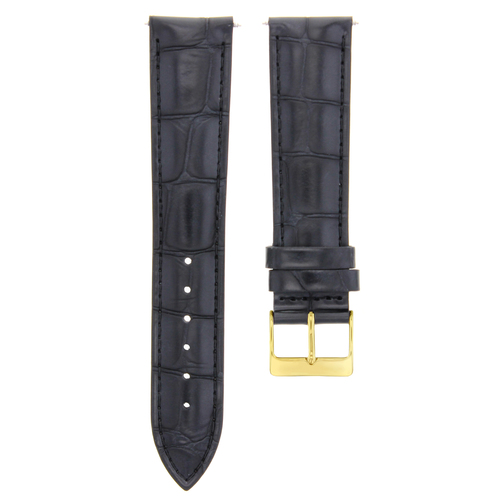 17-18-19-20-21-22-23-24MM LEATHER WATCH BAND STRAP FOR ZENITH GOLD COLOR BUCKLE