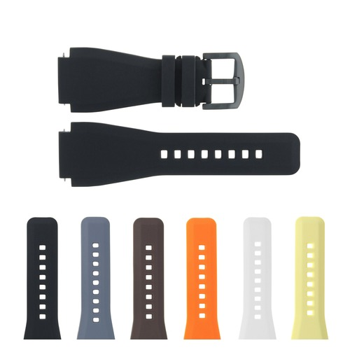 24MM RUBBER WATCH BAND STRAP FOR SONY SMART WATCH 2 II BLACK PVD