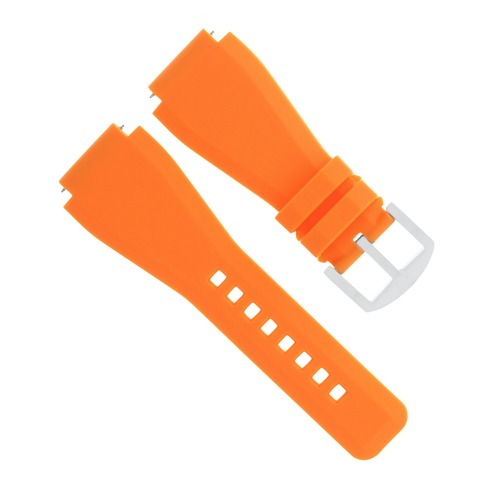 24MM SUUNTO CORE WATCH SILCONE RUBBER WATCH BAND STRAP ORANGE BRUSH BUCKLE
