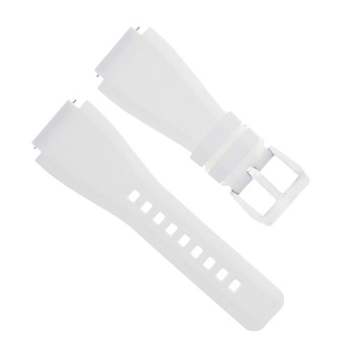 24MM RUBBER STRAP DIVER BAND FOR BELL ROSS BR-01 BR-03 STAINLESS STEEL BUCKLE