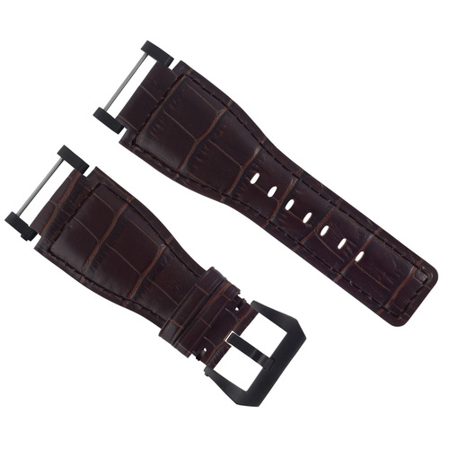 24MM SUUNTO CORE LEATHER WATCH BAND STRAP WITH ADAPTER BROWN PVD TOP QUALITY