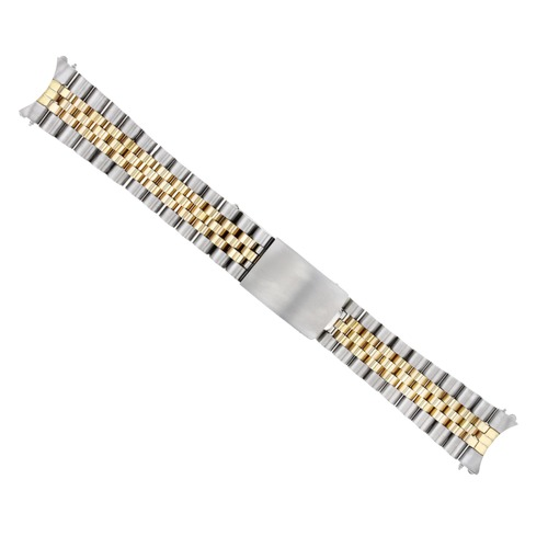 20MM 14K GOLD TWO TONE JUBILEE WATCH BAND FOR ROLEX DATEJUST 1601 1603 16233