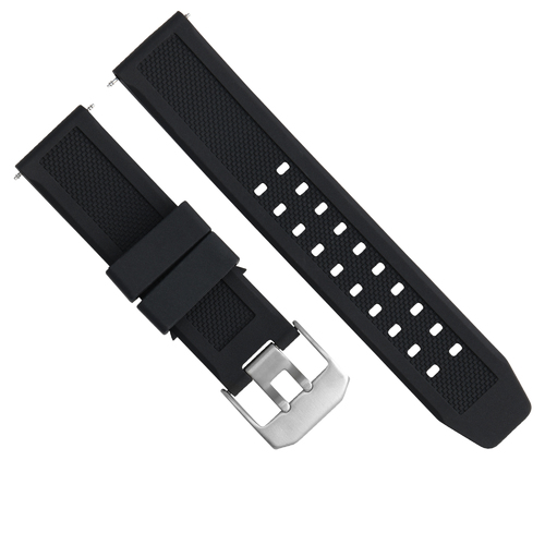 23MM RUBBER WATCH WATCH BAND STRAP FOR CITIZEN NAVIHAWK ECO DRIVE AT8110-02A