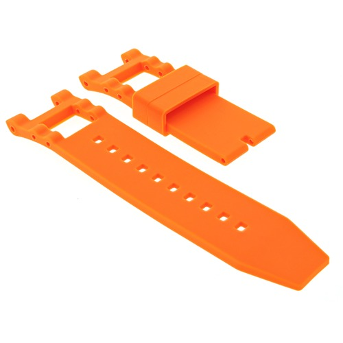 SILICONE RUBBER WATCH BAND STRAP FOR INVICTA SUBAQUA NOMA III  6043 WATCH ORANGE