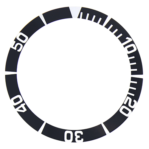 BEZEL INSERT FOR SEIKO 5 SEA URCHIN SNZ15K1, SNZF17 WATCH AUTOMATIC DIVER BLACK