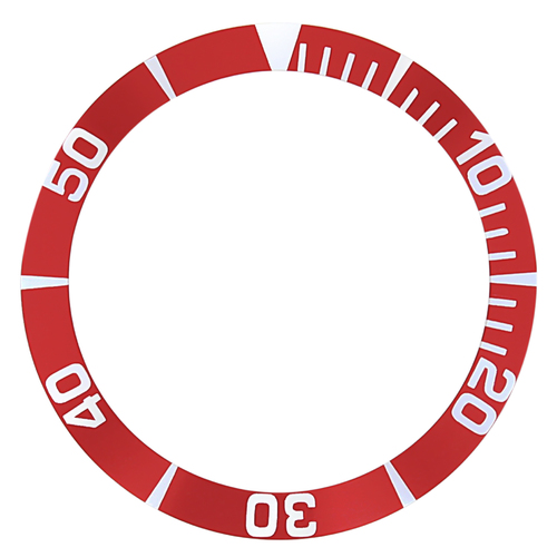 BEZEL INSERT FOR SEIKO 5 SEA URCHIN SNZ15K1,SNZF17 WATCH AUTOMATIC DIVER RED