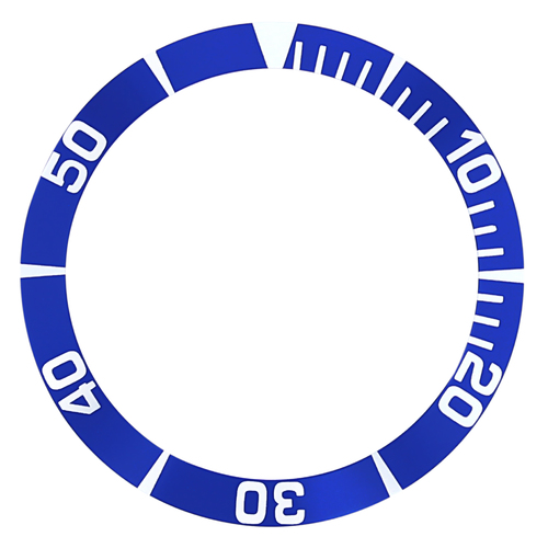 BEZEL INSERT FOR SEIKO 5 WATCH AUTOMATIC DIVER SNZ5K1 SBCZ011 WATCH BLUE