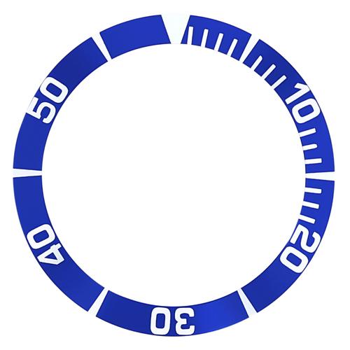 BEZEL INSERT FOR SEIKO 5 SEA URCHIN SNZ15K1, SNZF17 WATCH AUTOMATIC DIVER BLUE