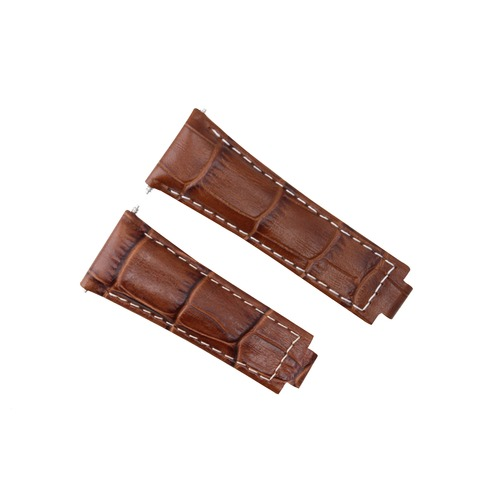 LEATHER STRAP ITALIAN FOR ROLEX DAYTONA 116519 116520 116523 WATCH BROWN WS
