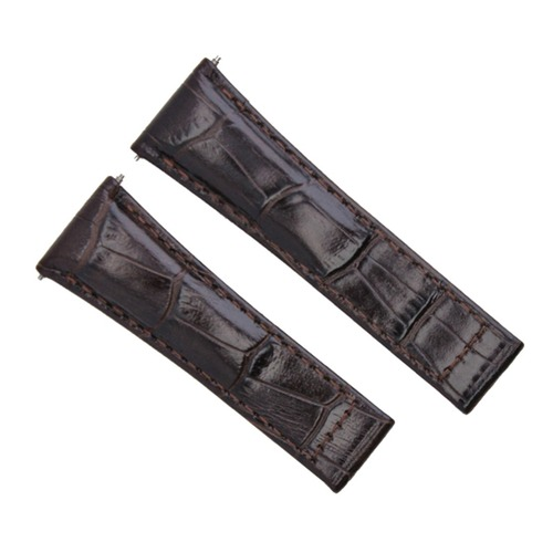 LEATHER STRAP ITALIAN FOR ROLEX DAYTONA WATCH DARK BROWN 116520 116523 REGULAR