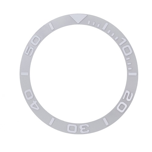 BEZEL INSERT FOR 40MM ROLEX YACHTMASTER 16622, 16623 18KW REAL GOLD SILVER COLOR