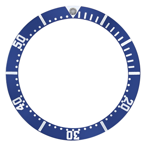 EASY SNAP ON BEZEL INSERT FOR OMEGA SEAMASTER CAL.1164, 178.0514 BLUE GROOVE