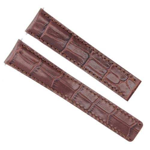 18MM LEATHER BAND STRAP DEPLOYMENT CLASP FOR CARTIER TANK SOLO XL 18MM/16MM BROWN