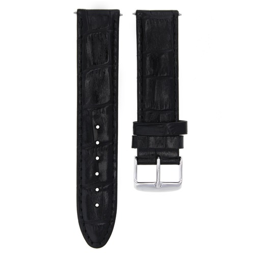 20MM LEATHER WATCH STRAP BAND 20/20MM FOR OMEGA SEAMASTER PLANET OCEAN BLACK