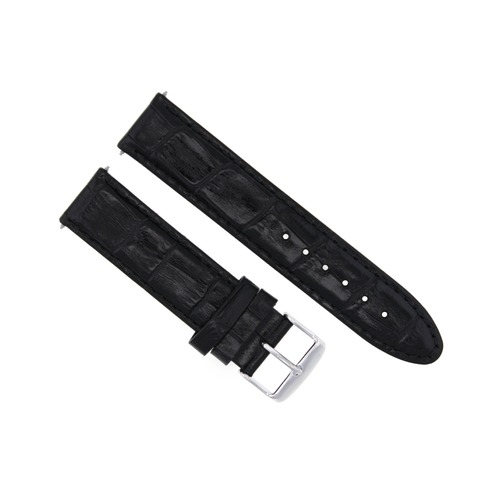 19MM LEATHER WATCH STRAP BAND FOR MIDSIZE OMEGA SPEEDMASTER SEAMASTER BLACK