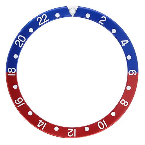 BEZEL INSERT GMT FOR SEIKO 6105 7002 6309 7S26 6309 6306 7002 8000 BLUE/RED