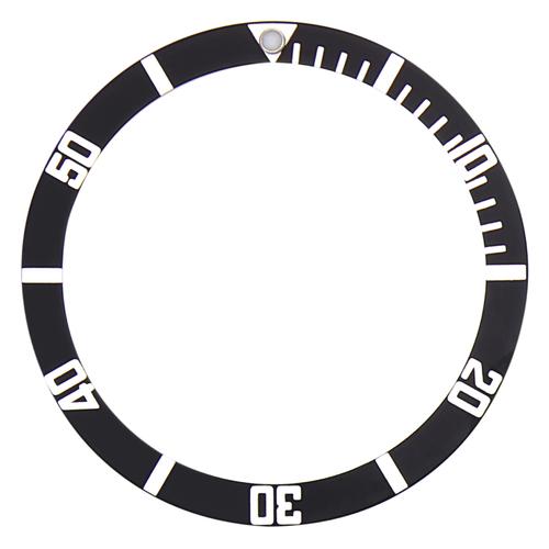 BEZEL INSERT FOR SEIKO 6105,7002,6309,7S26,6309,6306,7002,7548,SKX007 BLACK FLAT