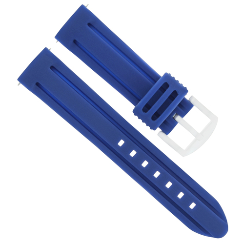 26MM RUBBER WATCH BAND DIVER STRAP FOR INVICTA  6608 4342  16230 RUSSIAN BLUE