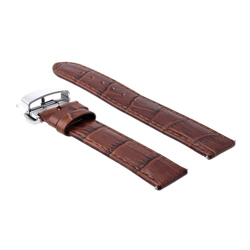 22MM LEATHER WATCH STRAP BAND FOR TAQ HEUER CARRERA MONACO + CLASP TAN L/BROWN