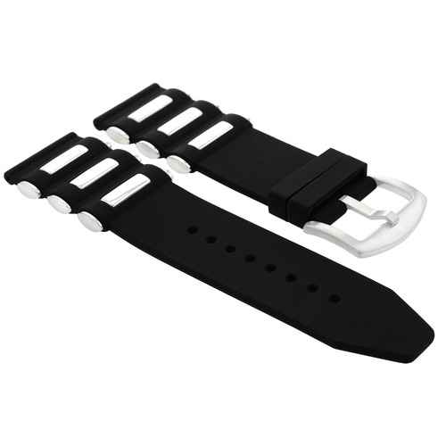 26MM SILICONE RUBBER DIVER BAND STRAP FOR INVICTA  S/HUNTER 1737 17882 BLACK
