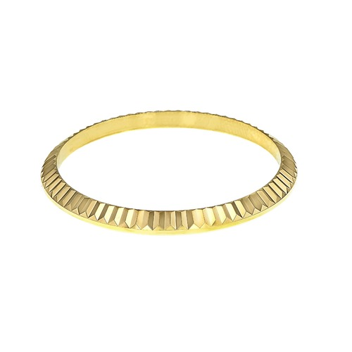 BEZEL FOR 36MM ROLEX DATEJUST 16233 16234 116233 116200 116138 FLUTED 18K REAL GOLD