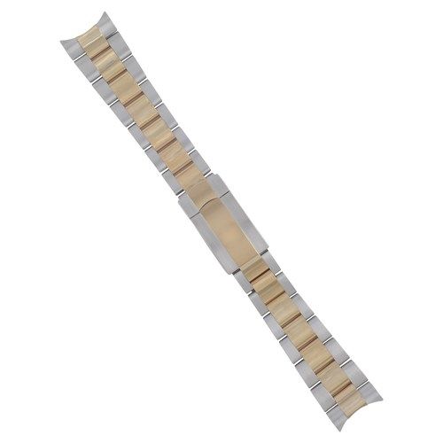 20MM 14K GOLD TWO TONE OYSTER WATCH BAND FOR ROLEX 16233 16014 SOLID END F/LOCK