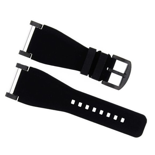 24MM FOR SUUNTO CORE SILCONE RUBBER BELL & ROSS BAND STRAP + BLACK ADAPTER BLACK