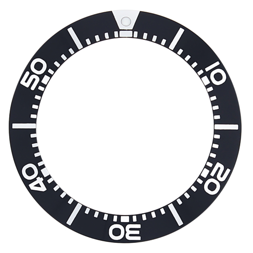 BEZEL INSERT FOR SEIKO WATCH PROSPEX SBCZ025 DIVER KINETIC SCUBA 200M BLACK