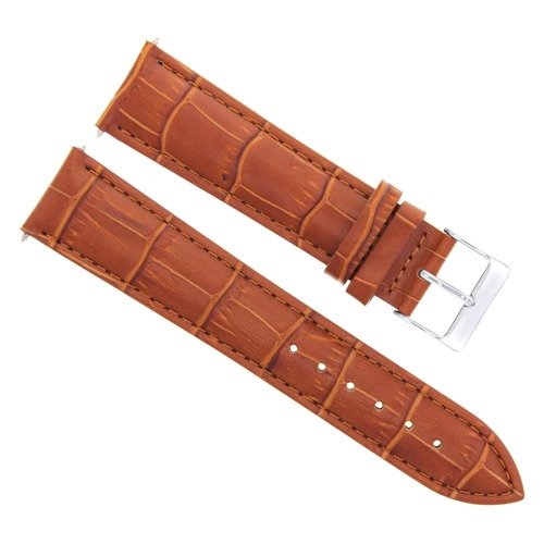 19MM ITALIAN LEATHER WATCH STRAP BAND FOR BAUME MERCIER MOA 10097 WATCH TAN