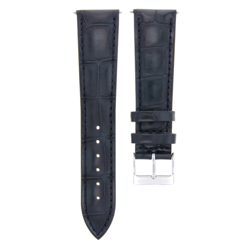 20MM NEW LEATHER WATCH STRAP BAND FOR 36MM ROLEX DATE DATEJUST 16233 DARK BLUE