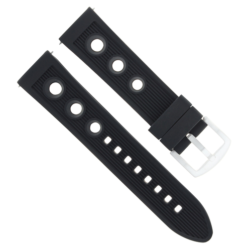 22MM RUBBER WATCH BAND STRAP FOR SEIKO WATCH SKX007 SKX009 SKX175 SKX176 BLACK