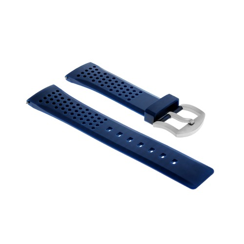 22MM SOFT RUBBER BAND STRAP FOR TISSOT PRS516 1853 RACING DIVER AUTOMATIC  BLUE