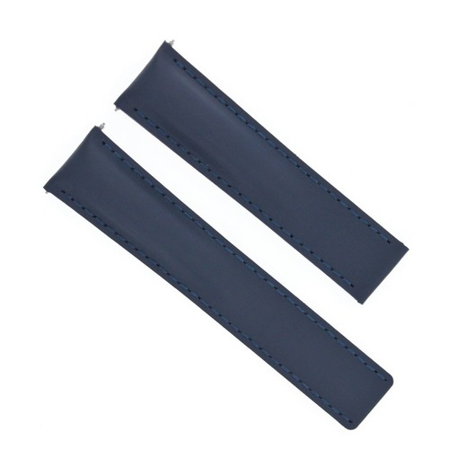 22MM LEATHER STRAP BAND FOR BREITLING AEROSPACE PILOT DEPLOYMENT CLASP BLUE