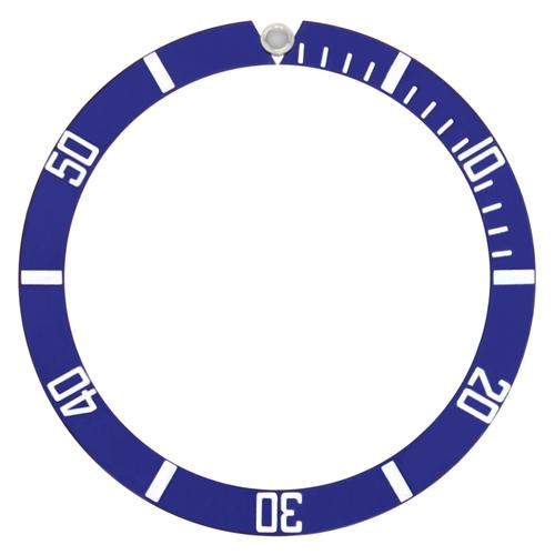 ALUMINUM BEZEL INSERT FOR SEIKO DIVER AUTOMATIC WATCH 38MM X 32MM BLUE SILVER