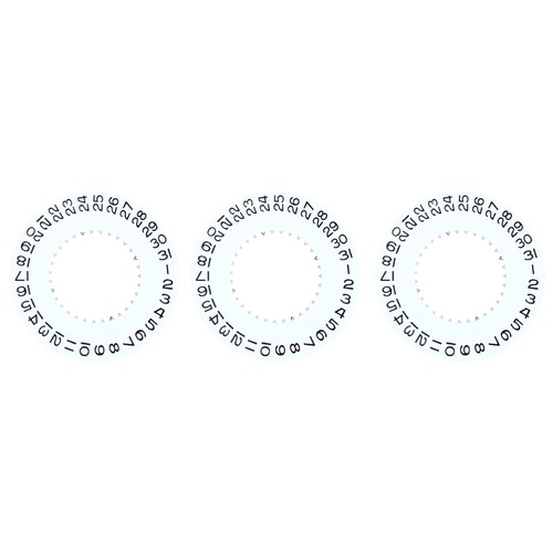 3 CALENDAR DATE DISC FOR ROLEX WATCH MOVEMENT 2235 79001, 79002 , 168623 WHITE