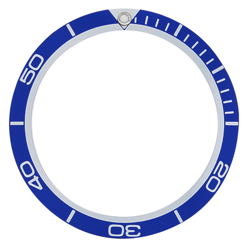 BEZEL INSERT FOR 45MM OR 45.5MM OMEGA SEAMASTER PLANET OCEAN BLUE TOP QUALITY