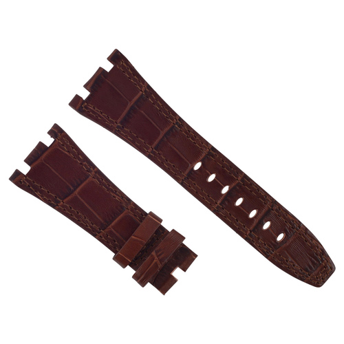 28MM LEATHER STRAP BAND FOR 42MM AUDEMARS PIGUET ROYAL OAK OFFSHORE 15703 LIGHT BROWN