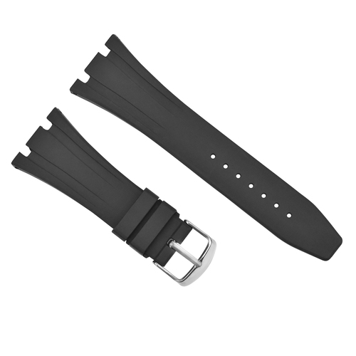 28MM RUBBER BAND STRAP FOR 42MM AUDEMARS PIGUET ROYAL OAK OFFSHORE 15703 BLACK
