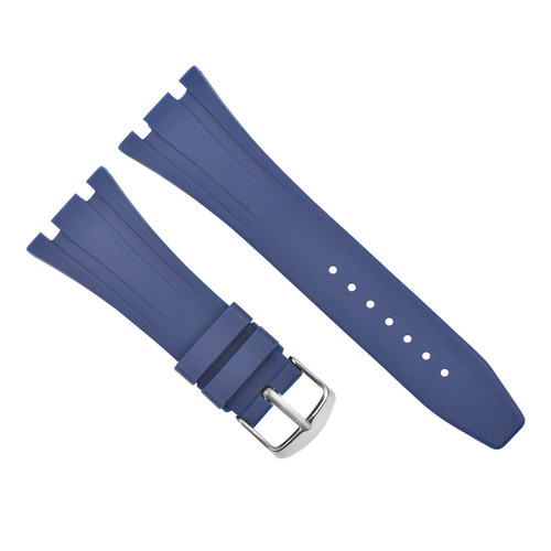 28MM AP RUBBER BAND STRAP FOR 42MM AUDEMARS PIGUET ROYAL OAK OFFSHORE 15703 BLUE
