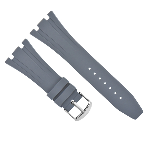 28MM AP RUBBER BAND STRAP FOR 42MM AUDEMARS PIGUET ROYAL OAK OFFSHORE 15703 GRAY