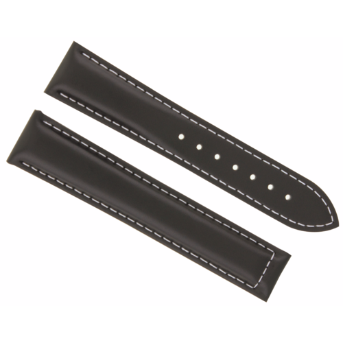 19MM LEATHER STRAP WATCH BAND CLASP FOR OMEGA SPEEDMASTER MOON DARK BROWN WS #19
