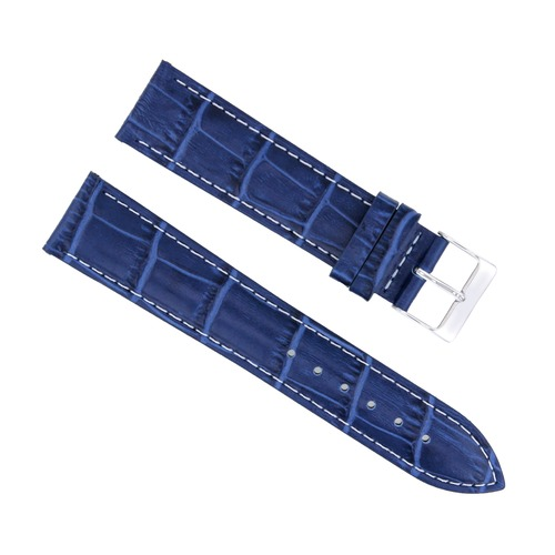 20/16MM LEATHER WATCH STRAP BAND FOR 36MM ROLEX DATE DATEJUST 16234  BLUE WS #1