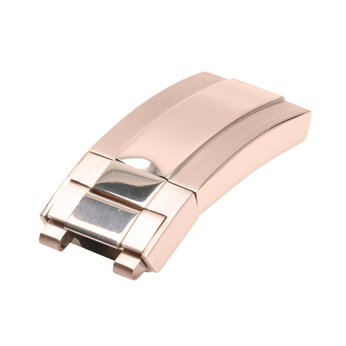 BUCKLE CLASP FOR ROLEX DAYTONA DATEJUST GMT LEATHER BAND WATCH STRAP BAND ROSE