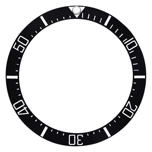 NEW HIGH QUALITY BLACK CERAMIC BEZEL INSERT FOR 44MM ROLEX DEEPSEA 116660 DSSD