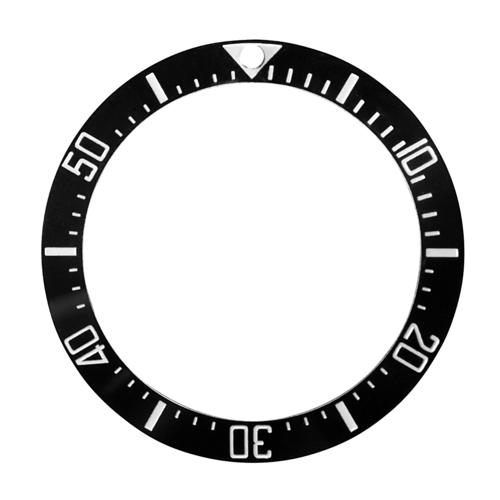 BLACK CERAMIC BEZEL INSERT FOR 44MM ROLEX DEEPSEA 116660 ENGRAVED # BLUE IN DARK