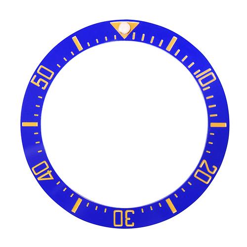 BLUE CERAMIC BEZEL INSERT FOR 44MM ROLEX DEEPSEA 116660 ENGRAVED # BLUE IN DARK