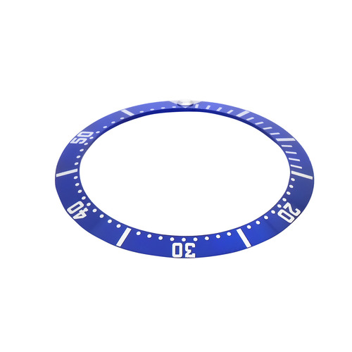 REPLACEMENT BEZEL INSERT BRIGHT BLUE FOR WATCH 38MM X 30.60MM