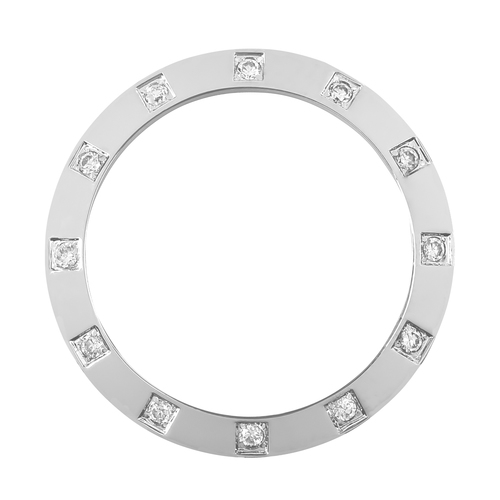 WHITE GP CREATED DIAMOND BEZEL FOR LADY ROLEX DATEJUST 6916 6917 69173 79173