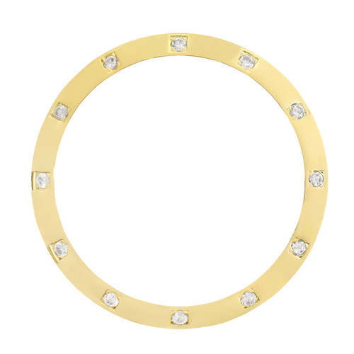 CREATED DIAMOND BEZEL FOR 36MM ROLEX DATEJUST PRESIDENT 1601 16013,16233 WHITE