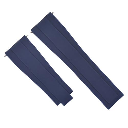 20MM RUBBER STRAP BAND FOR ROLEX DATEJUST DAYTONA SUBMARINER GMT EXPLORER BLUE